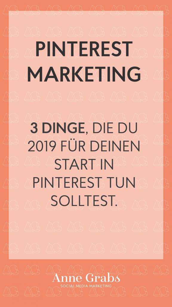 3 Tipps für Deinen Start ins Pinterst Marketing